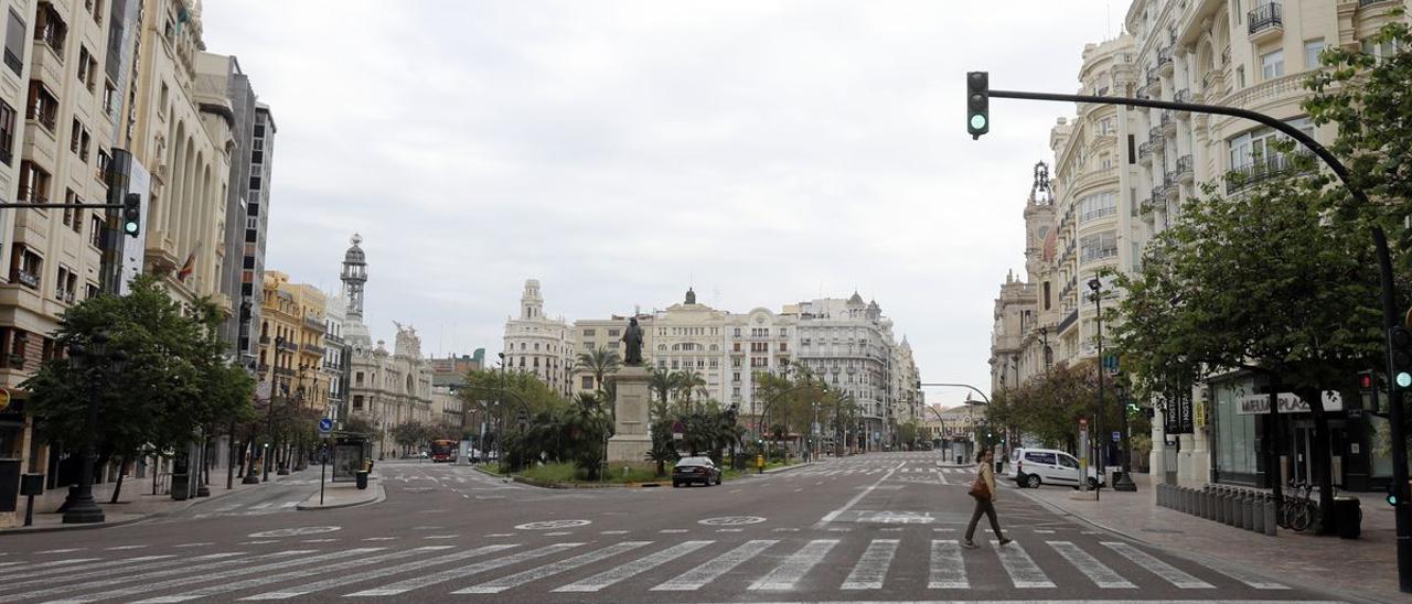Calles vacías en València.