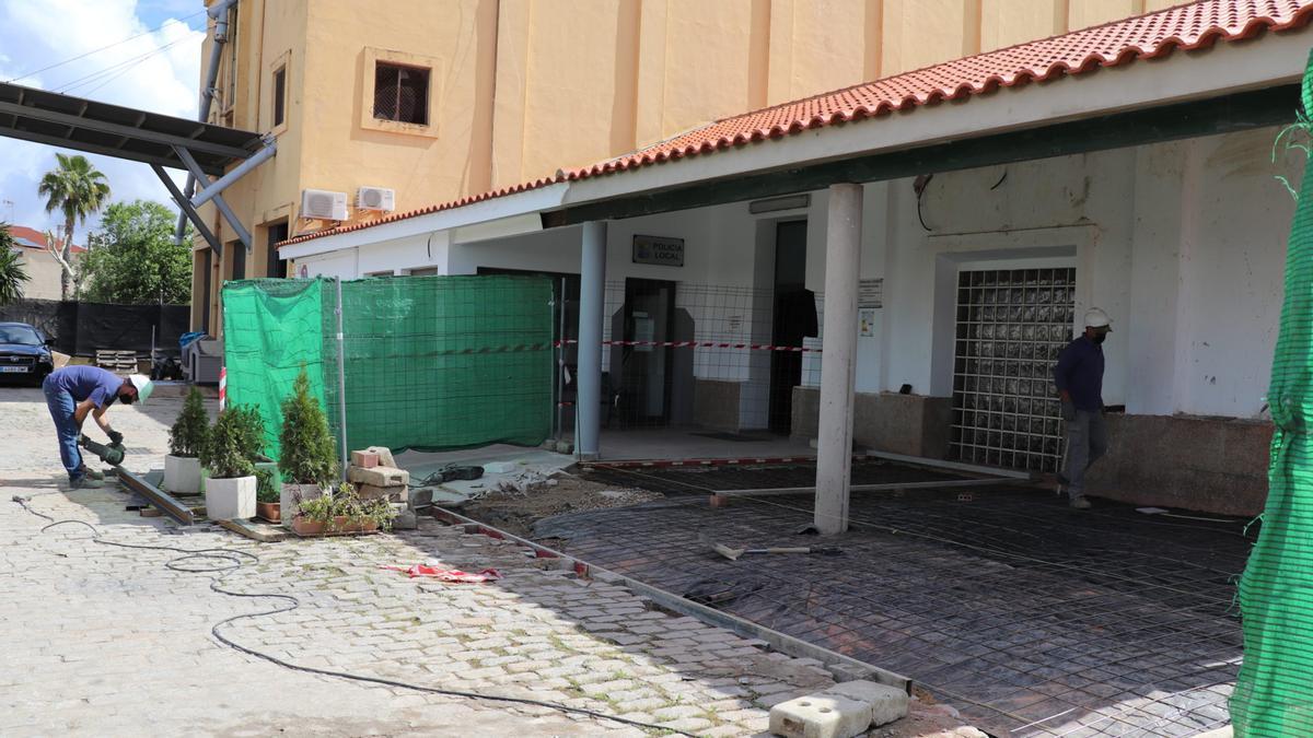 Obras de remodelación de las instalaciones de la Policía Local de Villanueva de la Serena.