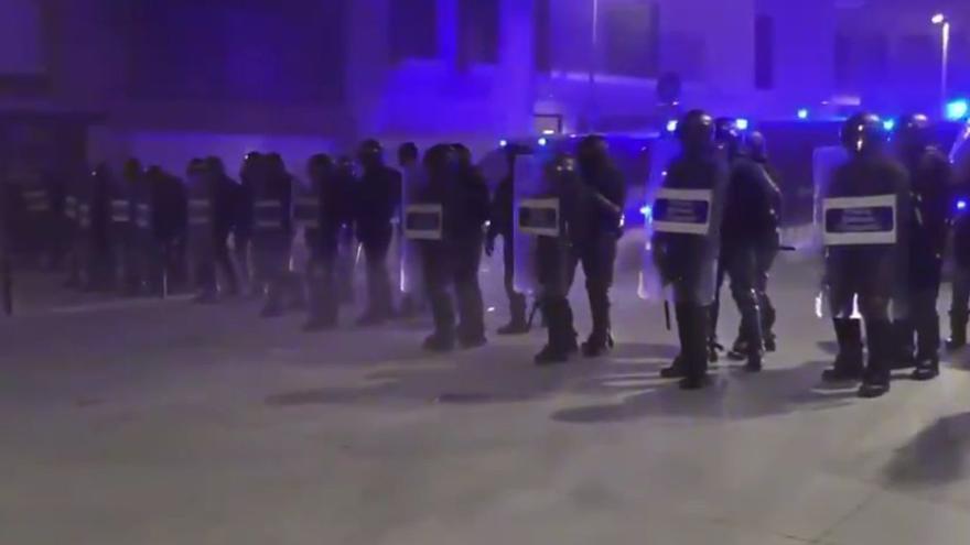 Siete detenidos en Terrassa en una manifestación pro Hasél con incidentes