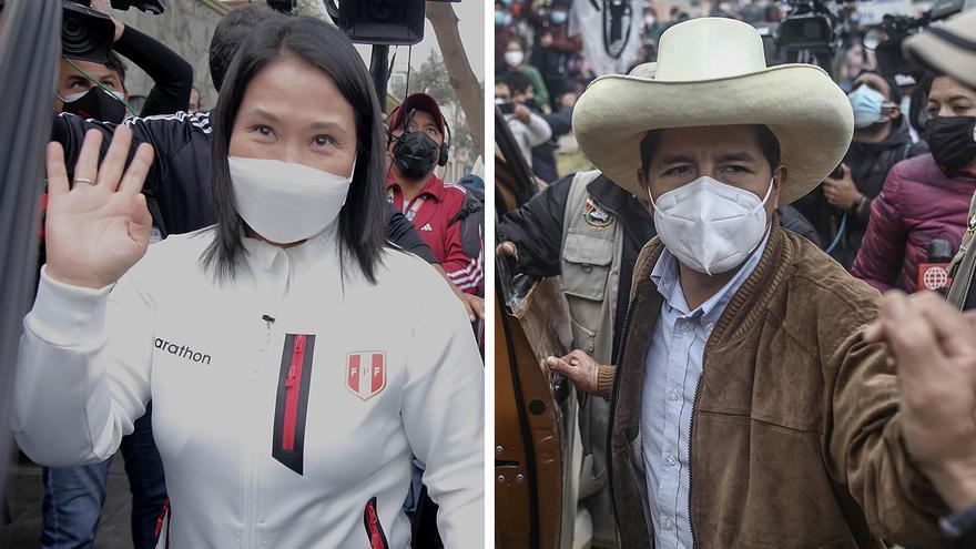 Un Perú dividido escoge entre la derecha de Keiko Fujimori y la izquierda de Pedro Castillo