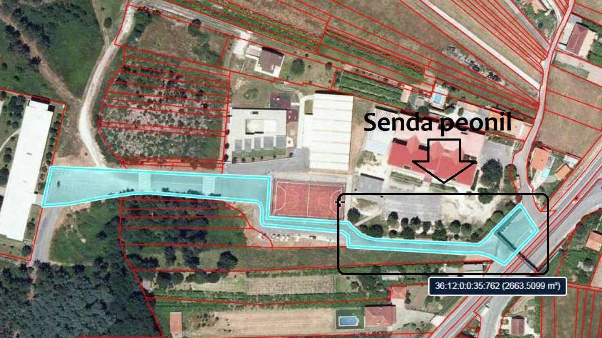 Una senda peatonal en Tenorio mejorará la seguridad escolar