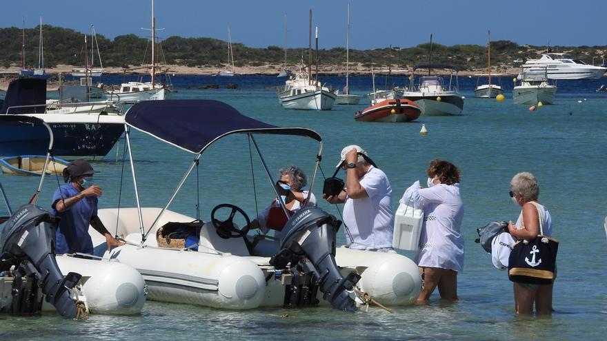 Denuncian el uso «ilegal» de s'Estany des Peix para el alquiler de barcos en Formentera