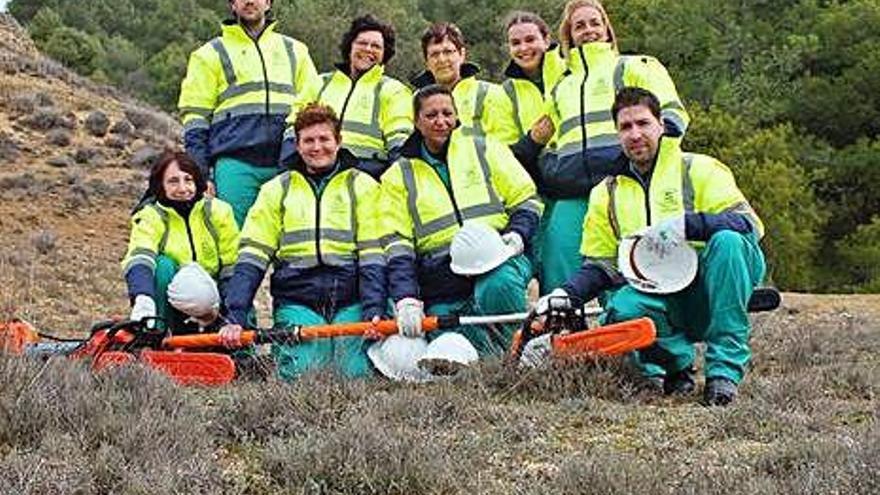 Participantes en el curso forestal de Villabuena del Puente.