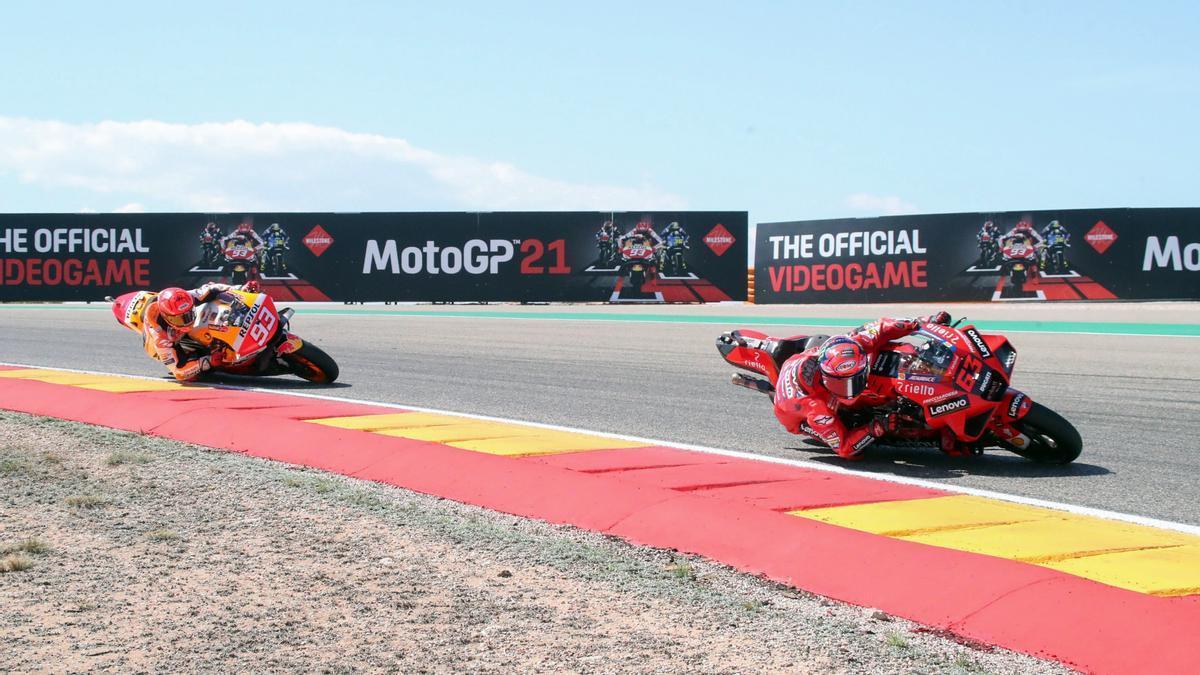 Primera victoria de Bagnaia en MotoGP