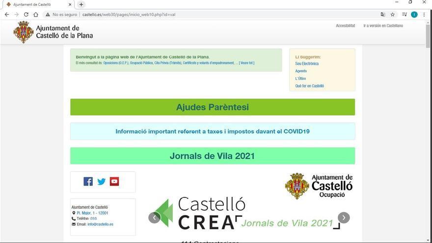 La web del Ayuntamiento de Castelló ya funciona