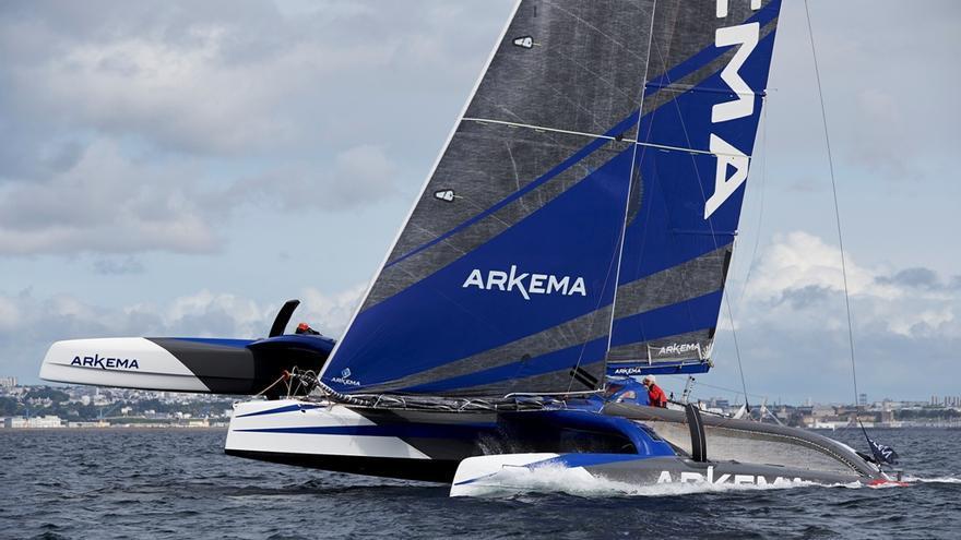 Los trimaranes del ProSailing Tour ya navegan rumbo a Las Palmas de Gran Canaria