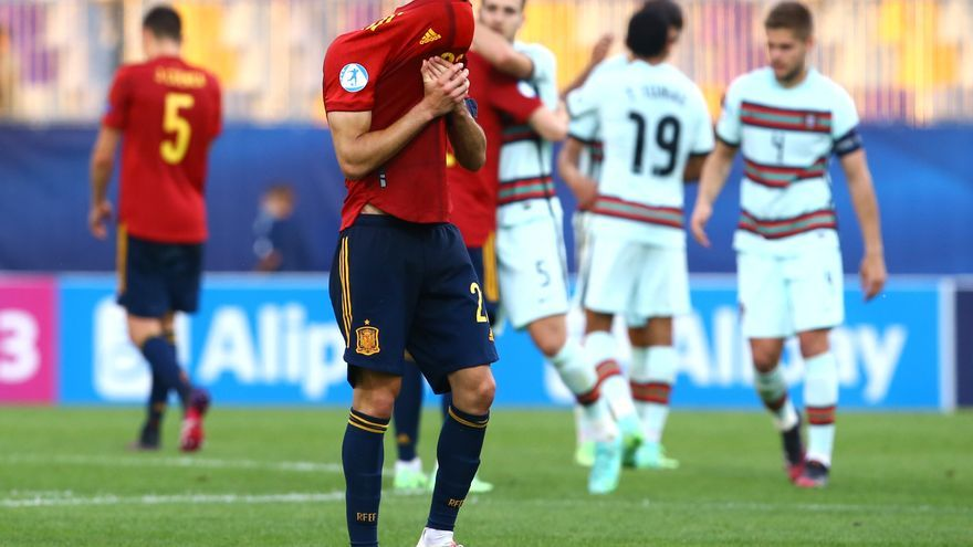 La sub-21 cae ante Portugal: sin gol, sin suerte y sin final