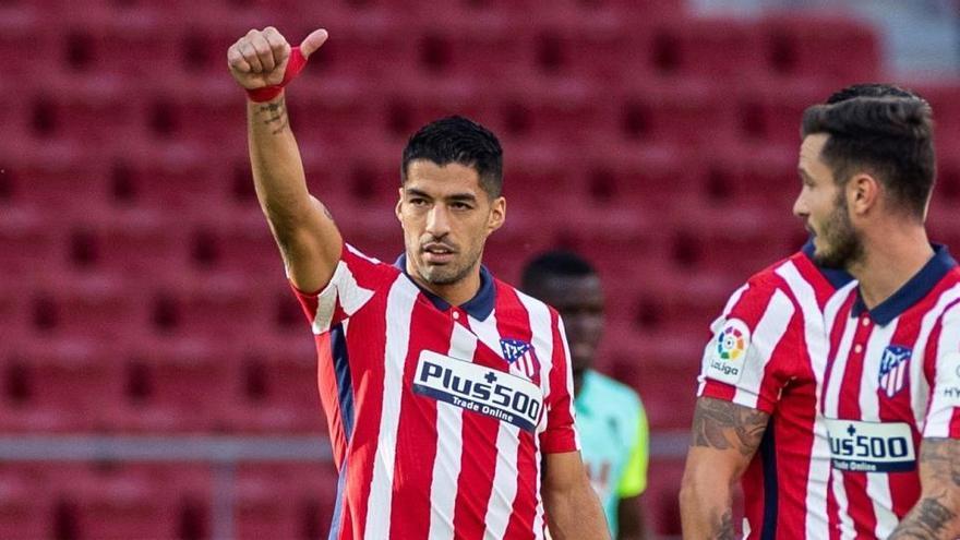 El Atlético de Madrid, con Suárez recuperado, apunta al Real Valladolid