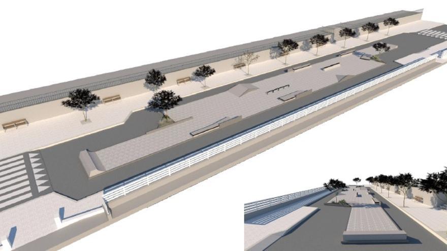 """El Concello quiere instalar un parque provisional de """"skate"""" en Reina Victoria"""