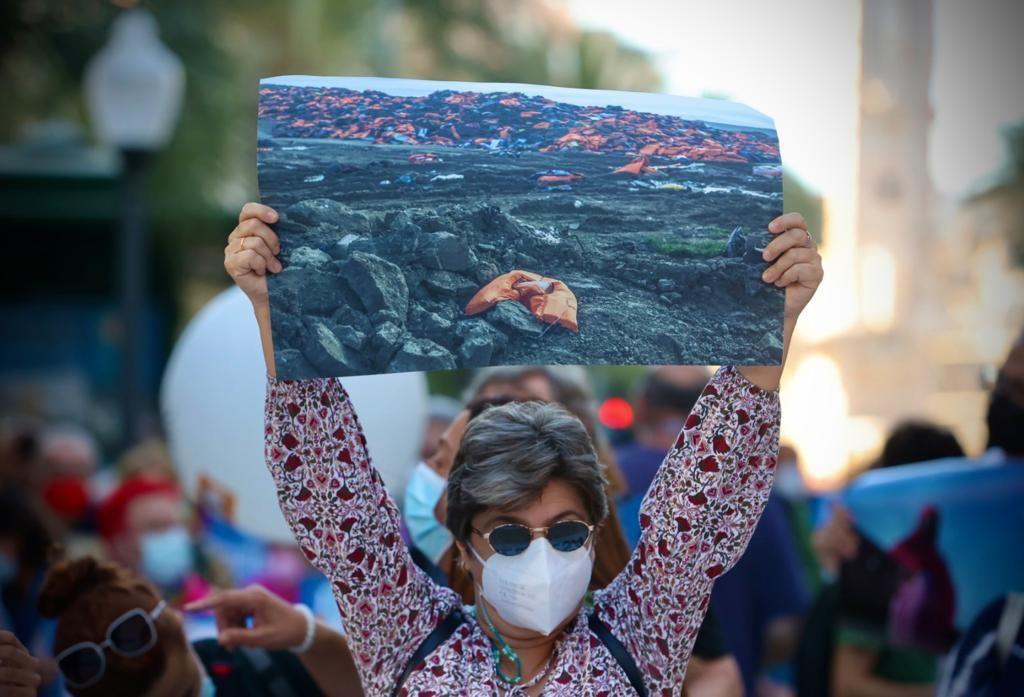Manifestación en el centro de Alicante en contra de la pobreza