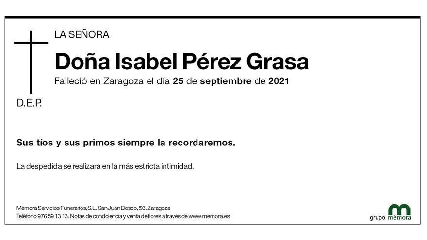 Isabel Pérez Grasa