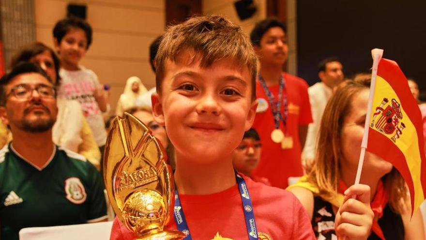 Un niño español logra el bronce en un campeonato mundial de cálculo mental