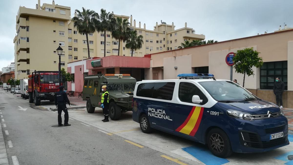 Policía Nacional y UME.
