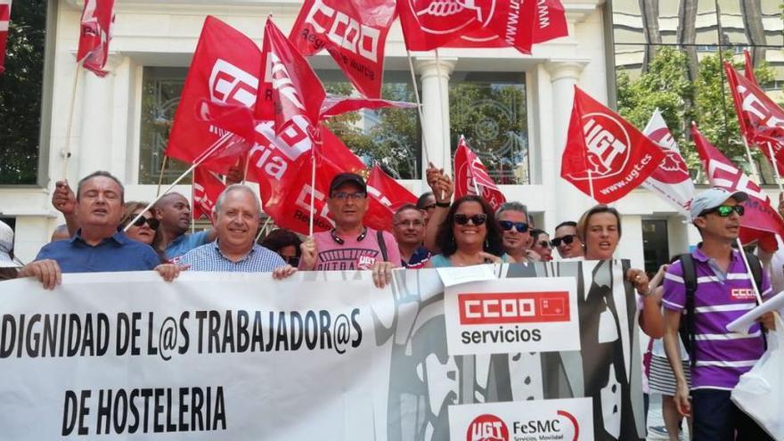 La Hostelería vuelve a echarse a las calles de Murcia este lunes