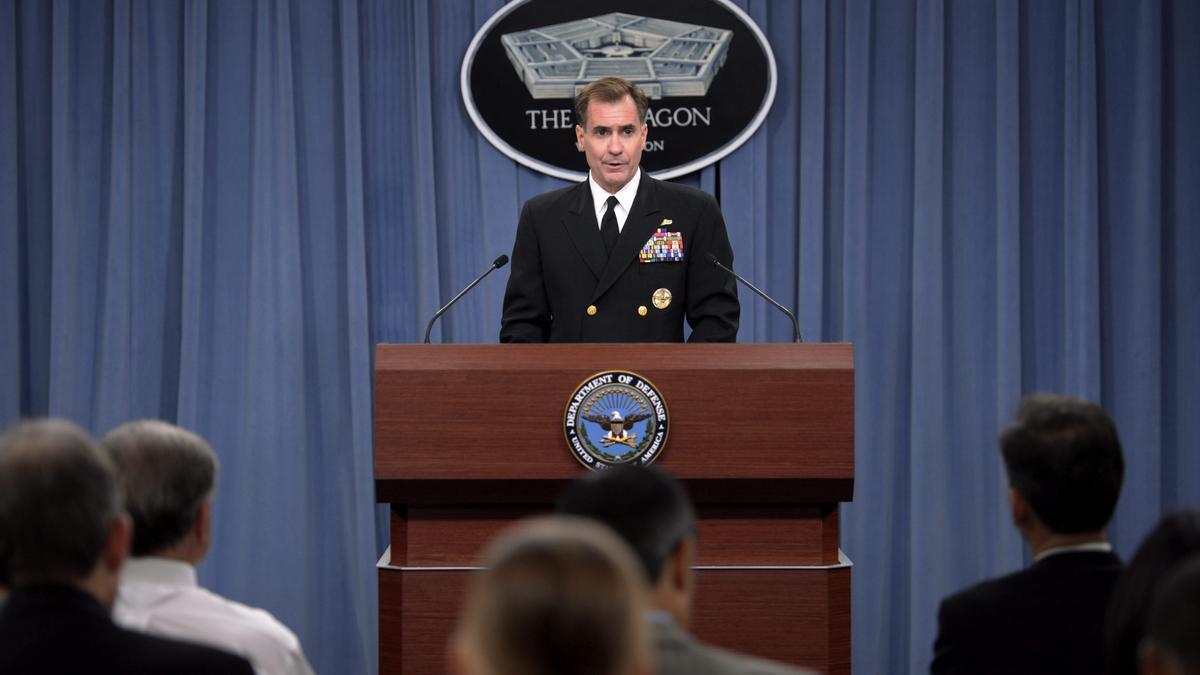 El portavoz del Pentágono, el contraalmirante John Kirby.