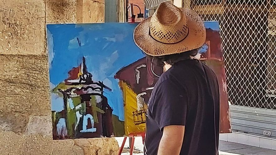 Plaza Mayor, galería de arte por un día