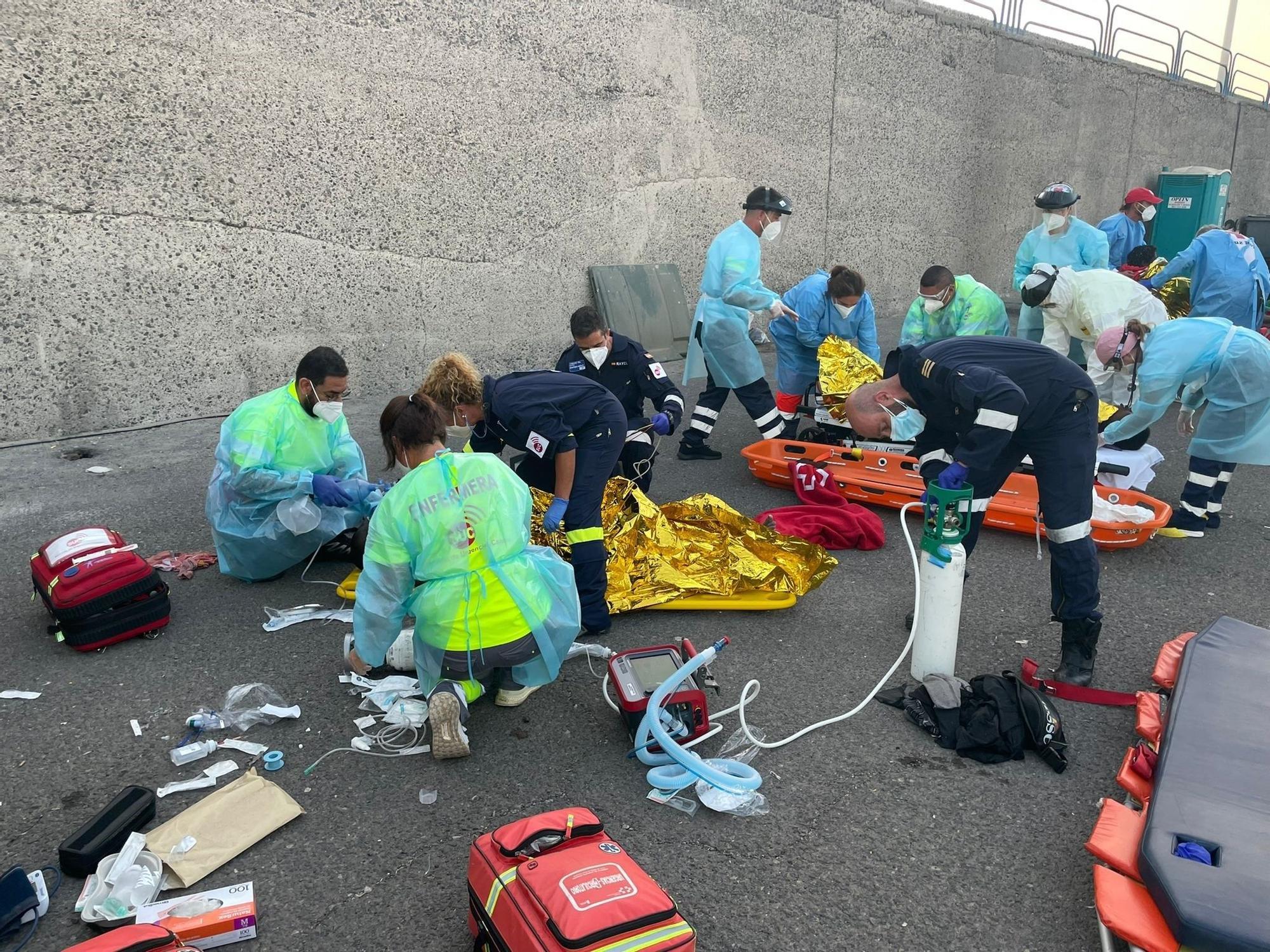 Llegada de migrantes a Lanzarote