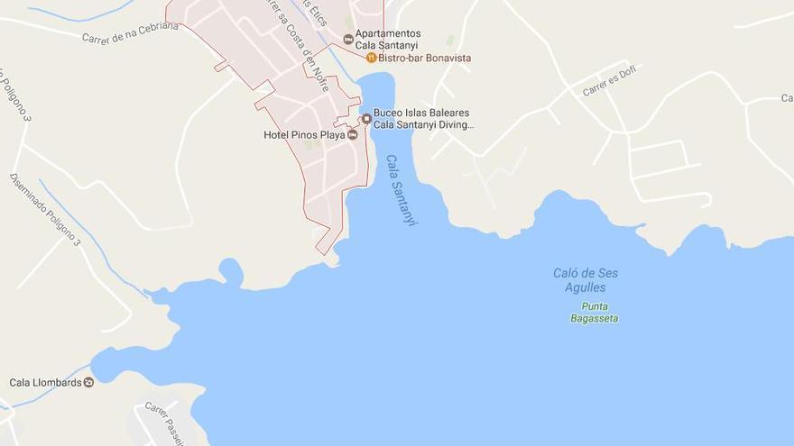 Mann kommt im Meer vor Cala Santanyí zu Tode