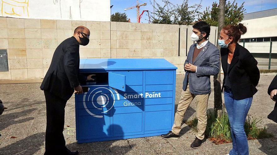 La paqueteria intel·ligent de Girona recull de mitjana 12 comandes per usuari