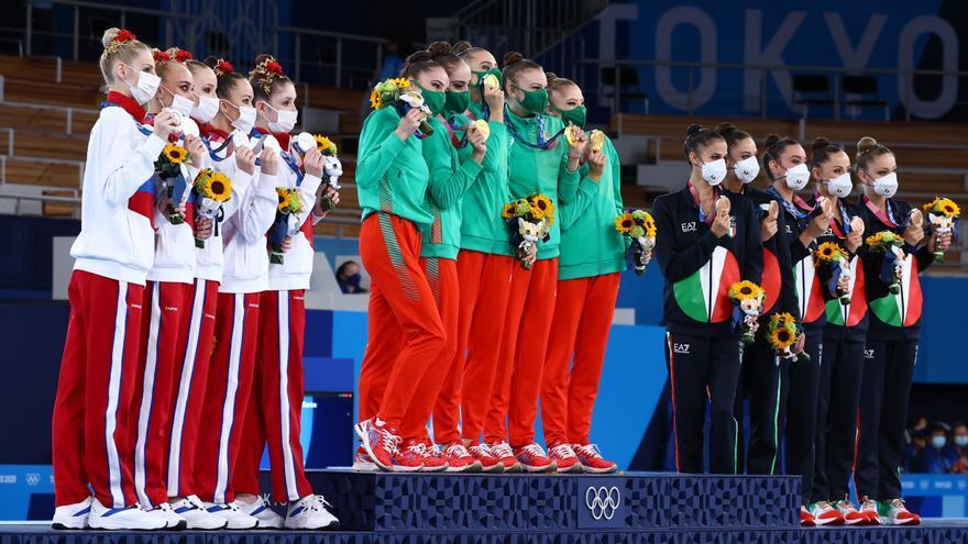 Bulgaria destrona al equipo ruso en gimnasia rítmica