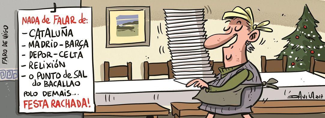 Unha década de Noiteboas en dez viñetas de Davila