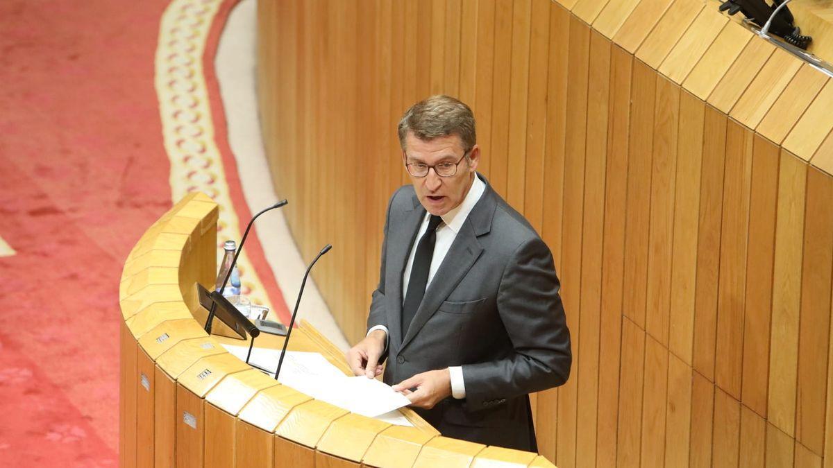 Feijóo, hoy, durante su discurso en la apertura del Debate del Estado de la Autonomía