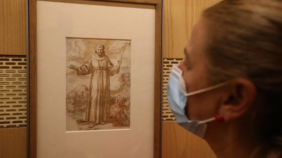 Antonio Reinoso mantiene sus 'dibujos' hasta enero en el Museo de Bellas Artes