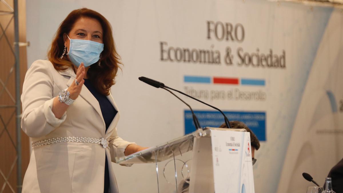 La consejera de Agricultura, Carmen Crespo.