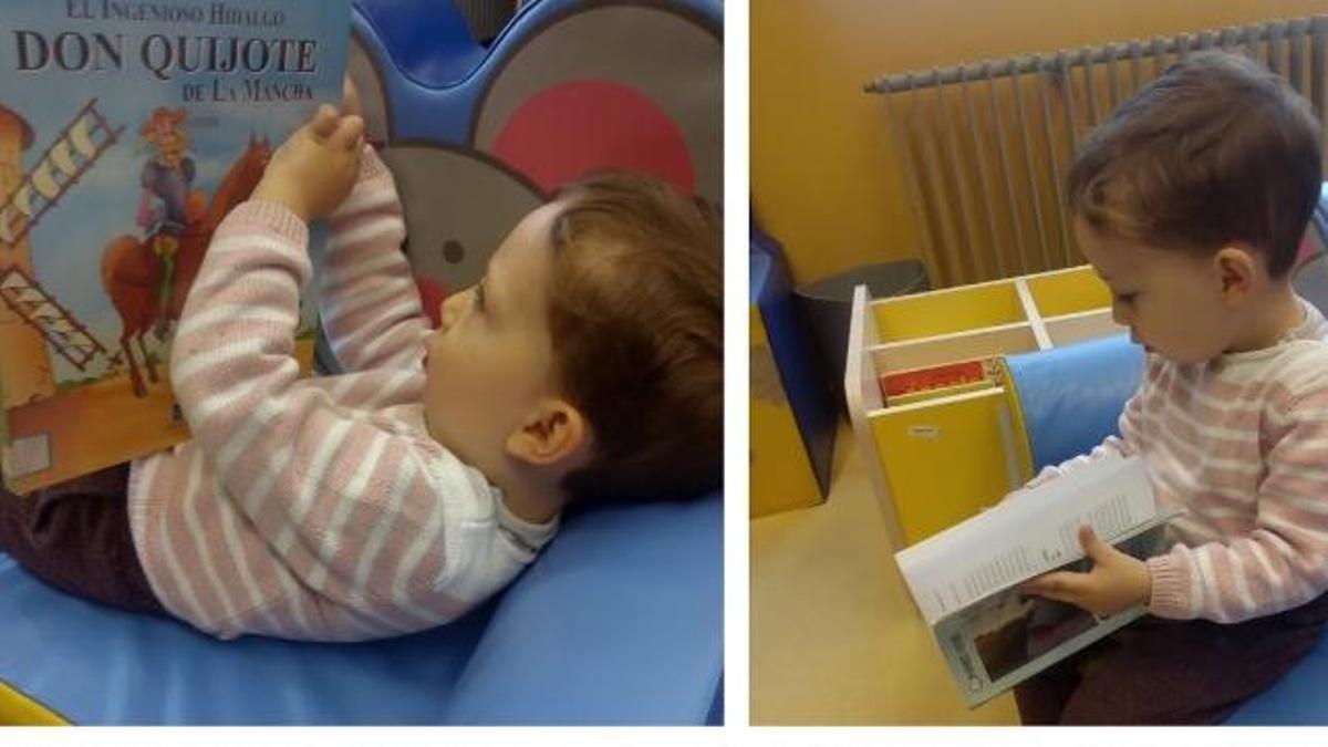 Un niño con sus primeros libros