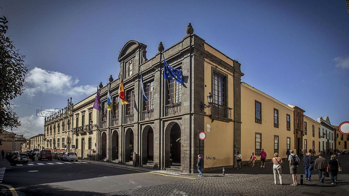 La sede central del Ayuntamiento de La Laguna.