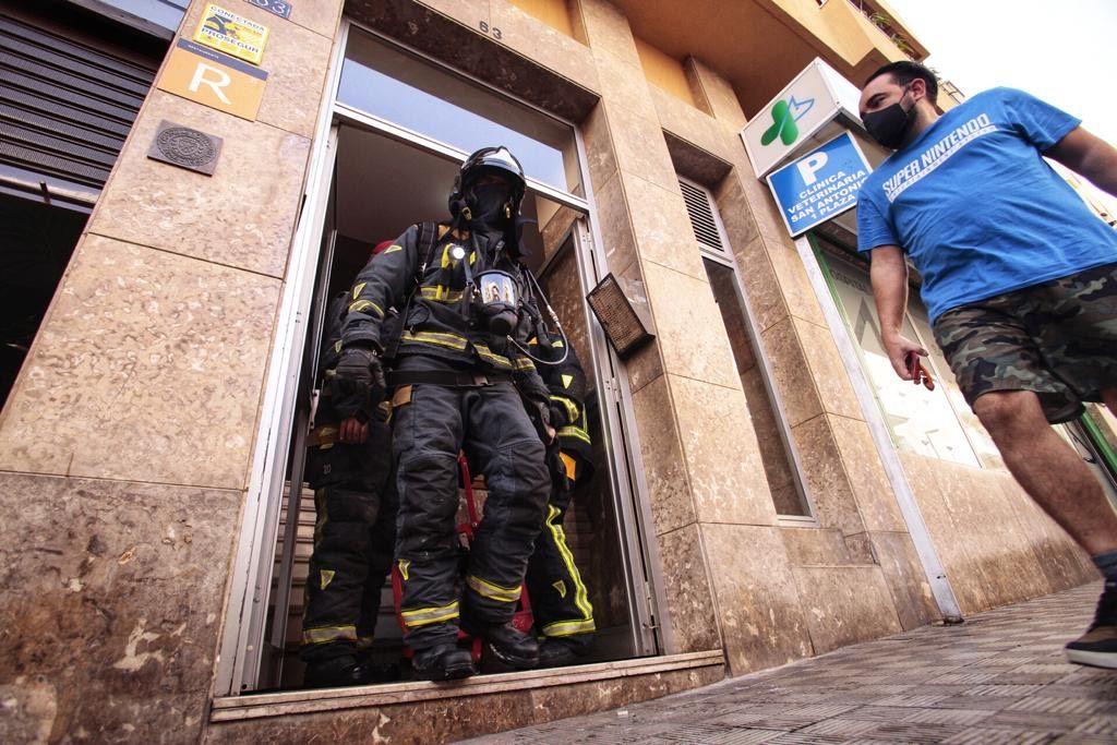 Incendio de una vivienda en Santa Cruz de Tenerife