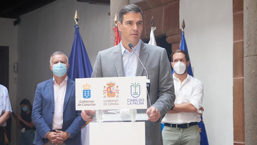 Sánchez anuncia una modificación presupuestaria al Fondo de Contingencias para acelerar las ayudas a la Palma
