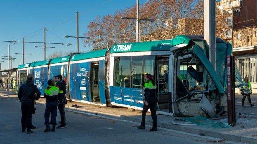 Un accidente de tranvía en Barcelona deja cuatro heridos