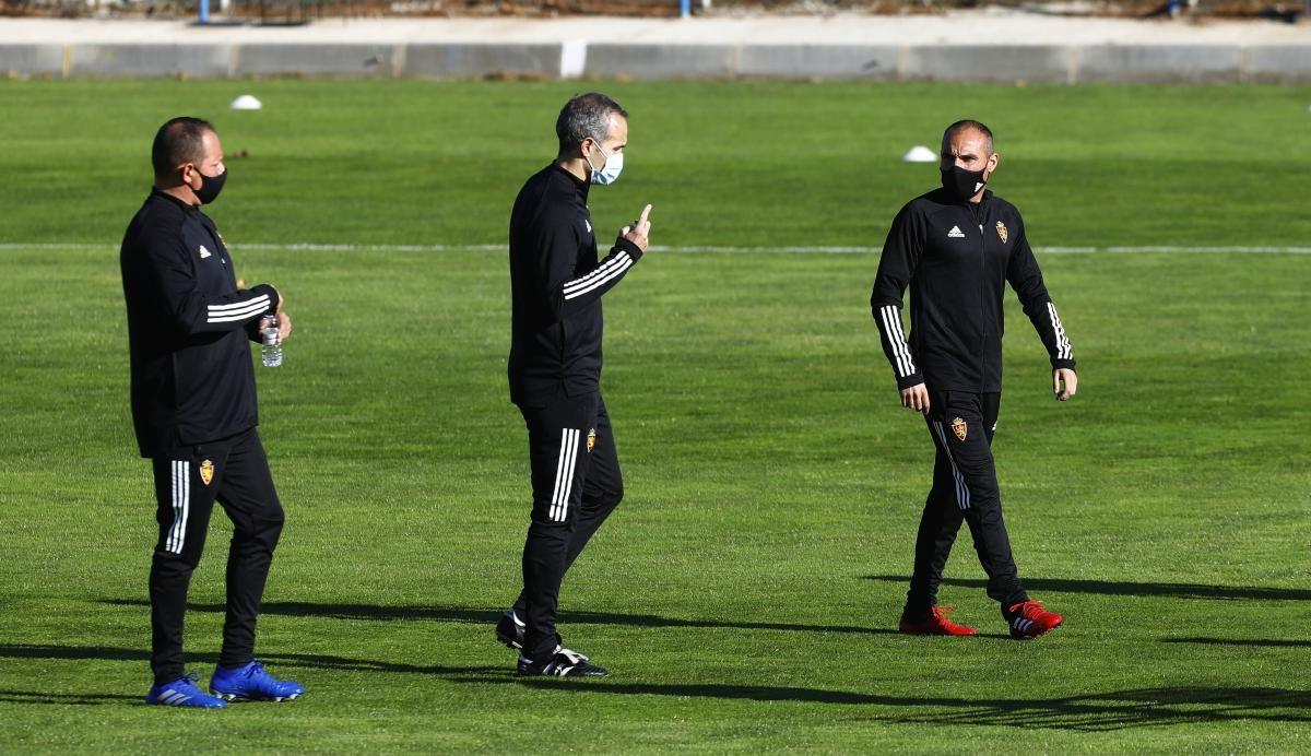 Entrenamiento del Real Zaragoza en la Ciudad Deportiva