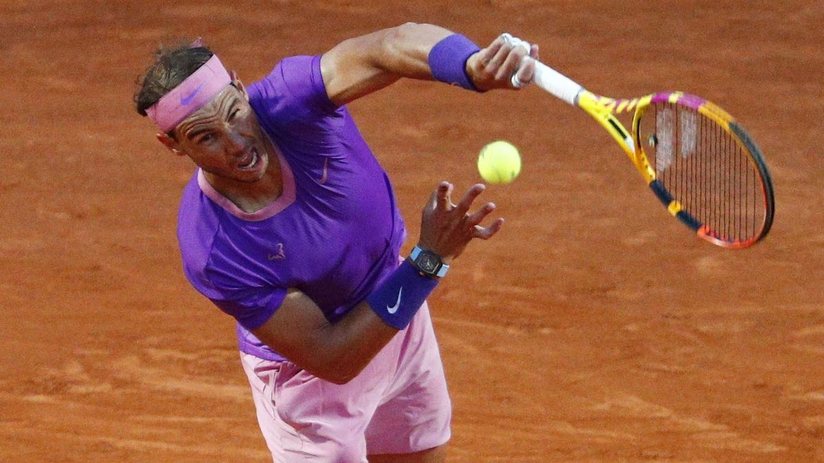Rafa Nadal, in the match against Jannik Sinner.