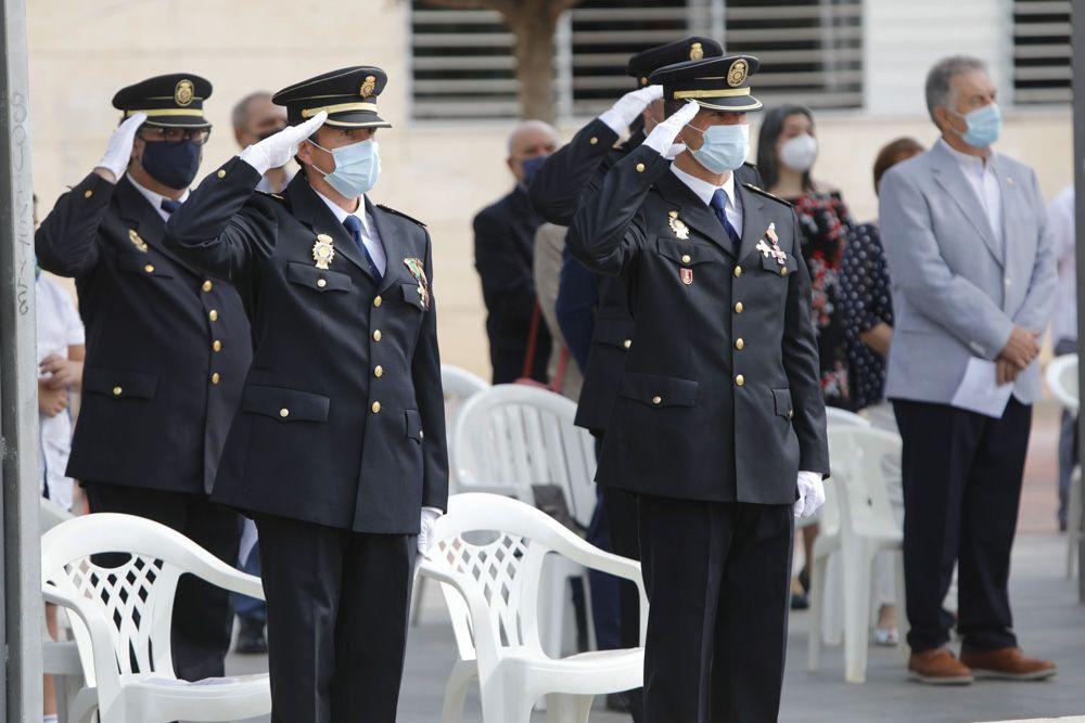 Acto institucional por el Patrón del Cuerpo Nacional de Policía en Sagunt.