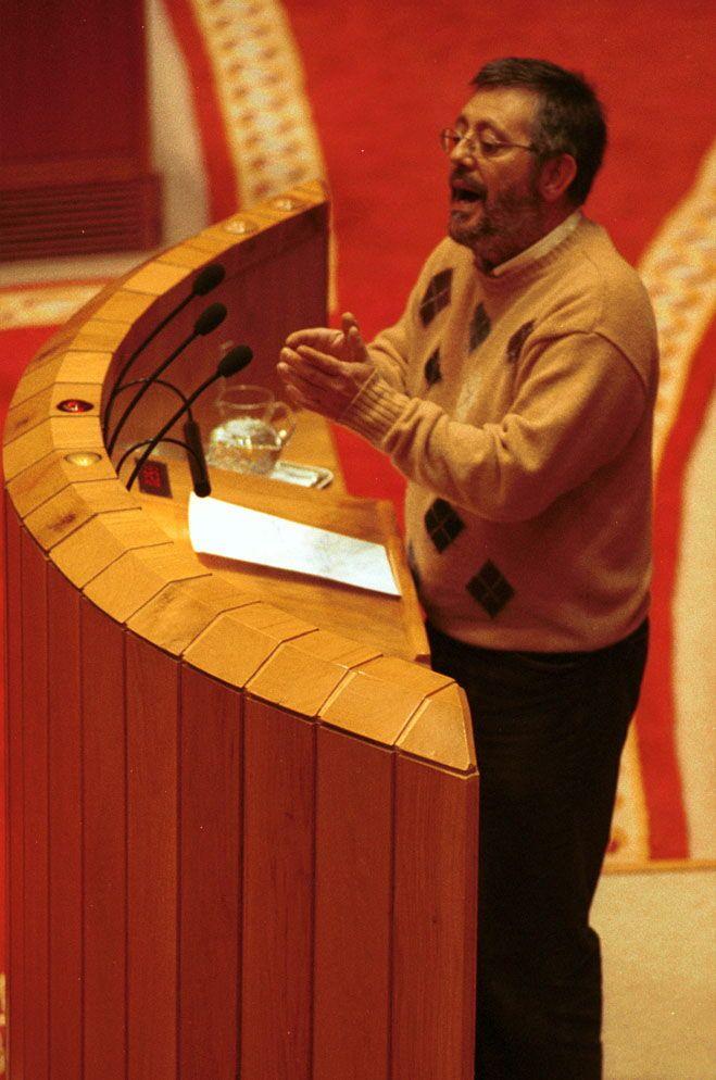 En el Parlamento de Galicia, en el 2000