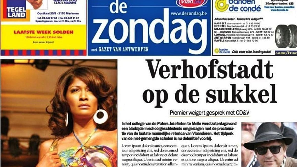 Portada de 'De Zondag', uno de los medios belgas que visitan La Gomera. | | E.D.