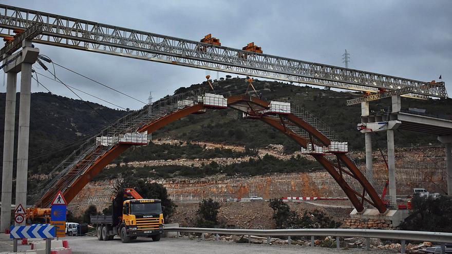 El megaviaducto de la N-232 a Morella estará en primavera