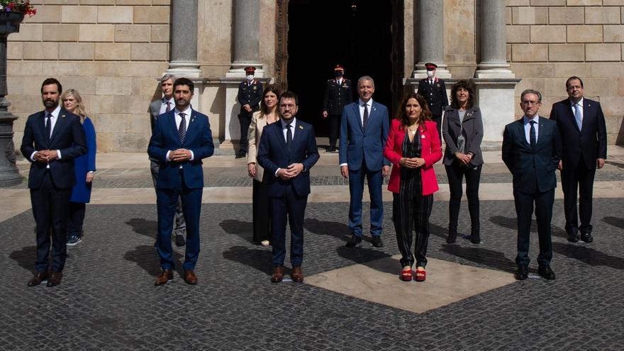 Laura Vilagrà i la resta de consellers del Govern d'Aragonès prenen possessió del càrrec