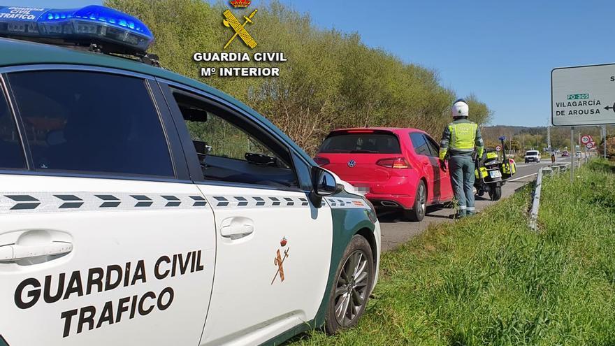 La Guardia Civil investiga a un conductor que circulaba a 163 km/h en un tramo limitado a 70