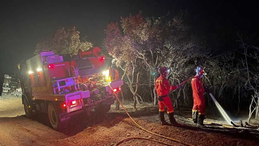 Investigado un joven por el primer gran incendio forestal del verano en Aragón que afectó a Torres del Obispo