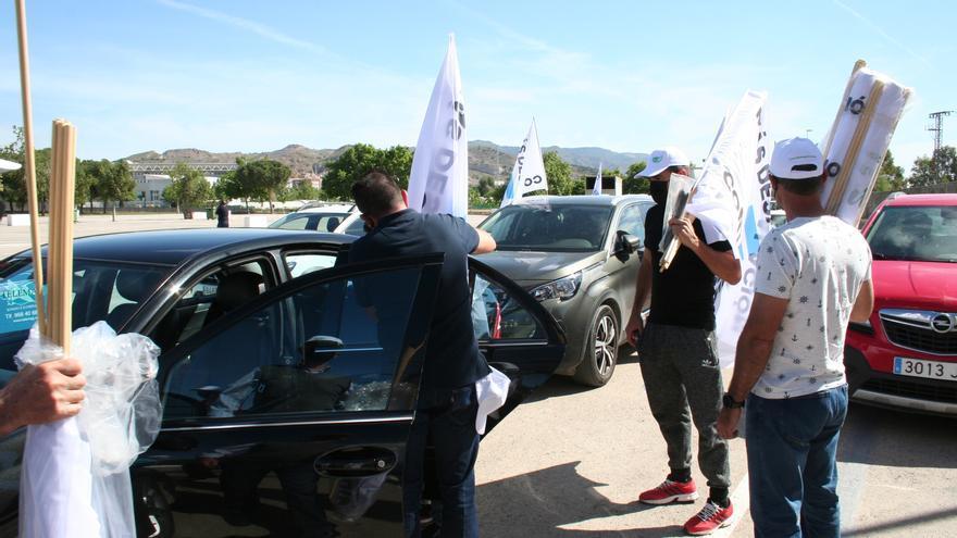Protesta en defensa del Trasvase en Lorca