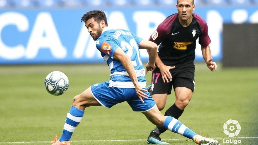 El Sporting deja el gol en cuarentena en Riazor