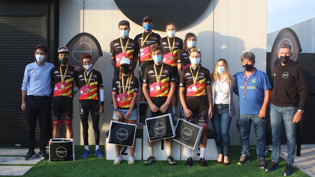 Podio Campeonato de Balears de ciclismo en ruta