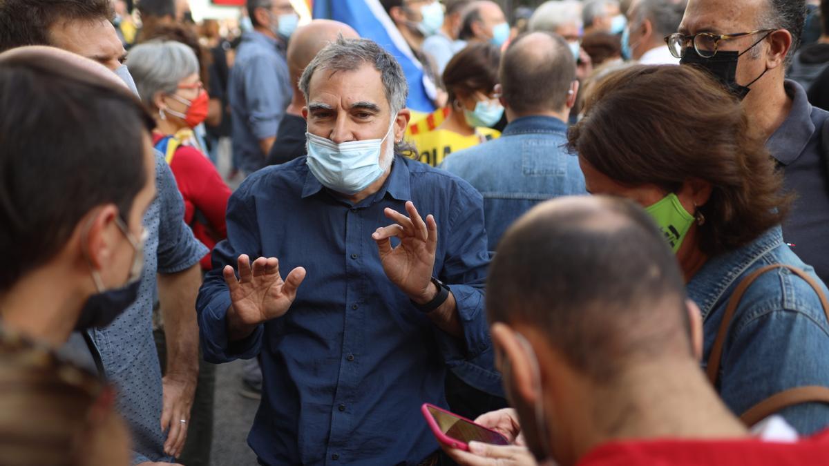 Protesta frente a la embajada de Italia en Barcelona por la detención de Puigdemont