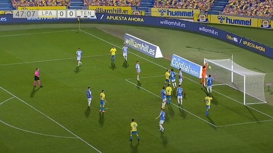 Vídeos del gol y resumen del partido UD Las Palmas 1 - 0 CD Tenerife