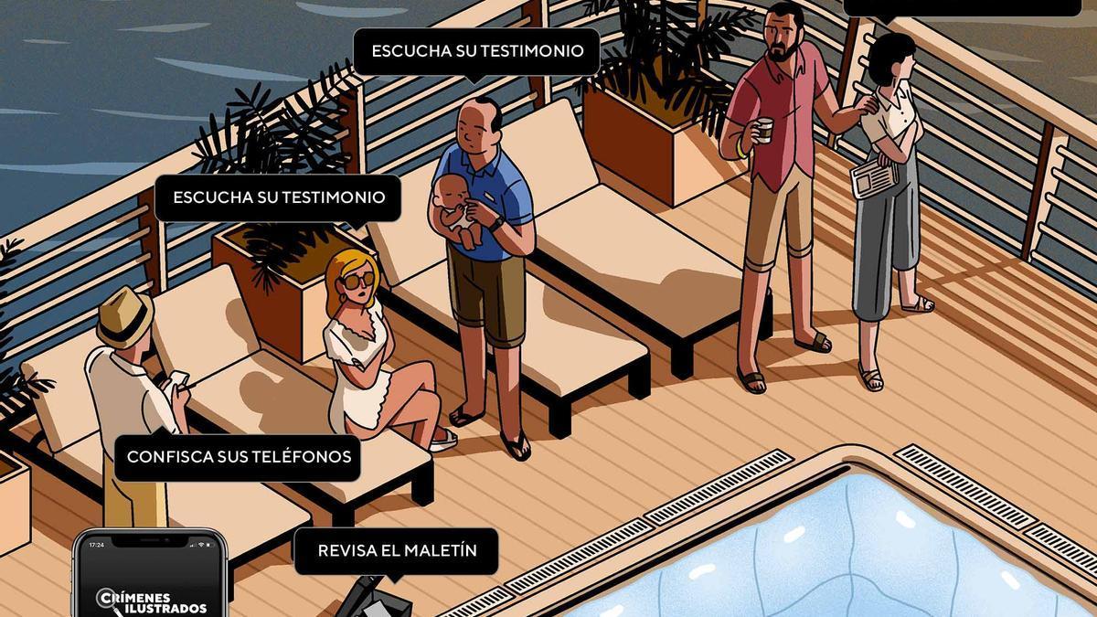"""""""Muerte en alta mar"""", uno de los casos de """"Crímenes ilustrados"""""""