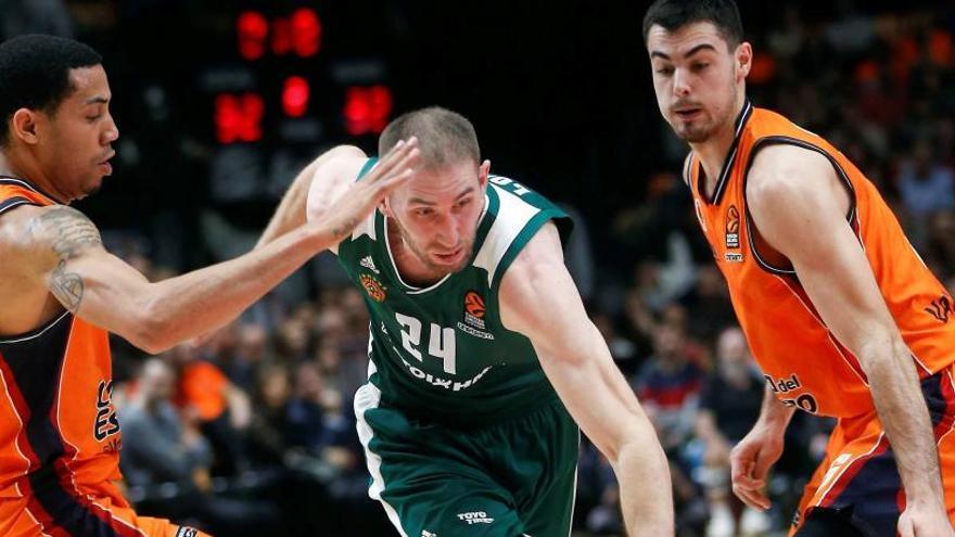 El Valencia Basket vence al Panathinaikos y rompe su mala racha en Europa