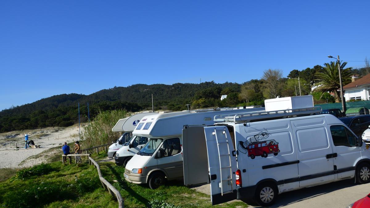 Autocaravanas este pasado fin de semana en Nerga.